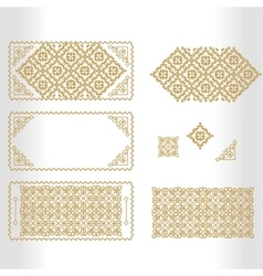 gold framework with geometrical and vector image vector image