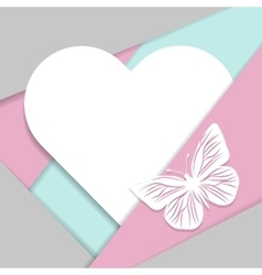 Greeting card in material design style vector image