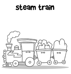 Hand draw of steam train vector