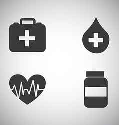 Health icons vector image