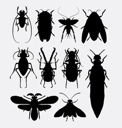 Insect bug small animal silhouette 1 vector image