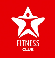 logo man star for fitness club vector image vector image