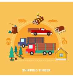 Lumberjack colored composition vector