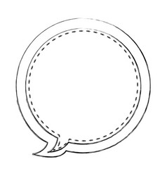Monochrome blurred contour of circular balloon vector