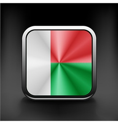 original and simple Madagascar flag isolated vector image