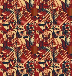 Pattern with symbols of the US vector image