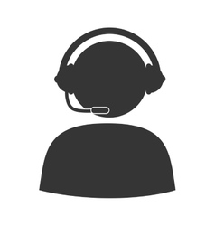 person operator headset service assistant icon vector image