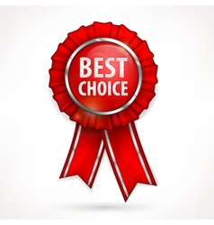 Red award label on white vector image vector image