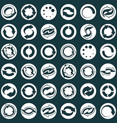 Reload icons set loop arrows refresh web theme vector image vector image