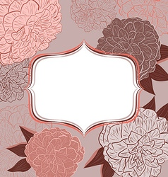 Retro Pink Floral Invitation Card vector image vector image