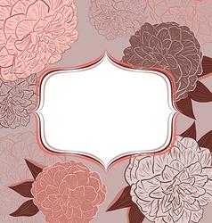 Retro Pink Floral Invitation Card vector image