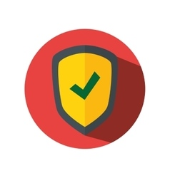 Shield security guard icon vector