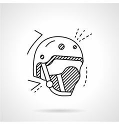 Skaters helmet line icon vector image