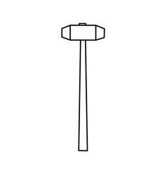 sledgehammer construction tool vector image