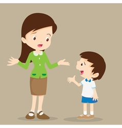 teacher talking with student vector image