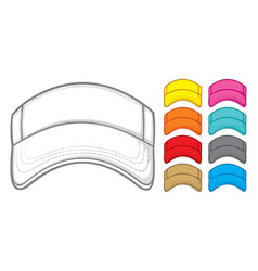 tennis cap collection vector image vector image
