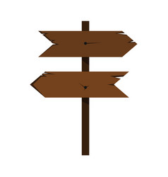 wood sign in white background vector image vector image