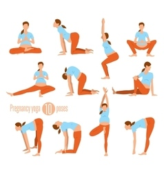Yoga for pregnant women vector