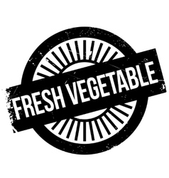 Fresh vegetable stamp vector image