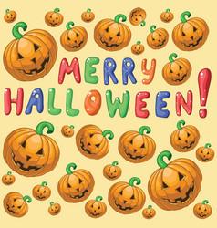 Merry hallowen vector