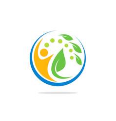 ecology bio people spa logo vector image