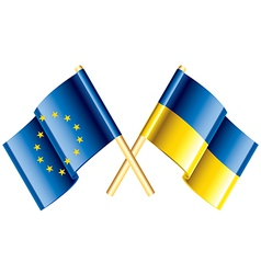 Object eu ukraine flags vector