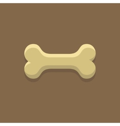 Dog bone cookie vector
