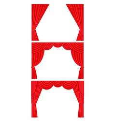 Curtain set flat style vector