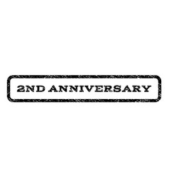 2nd anniversary watermark stamp vector image