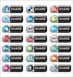 social bookmarks vector image