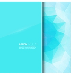 Modern trend glossy blank with a background vector
