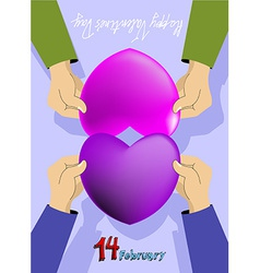 Valentines day card february 14th vector