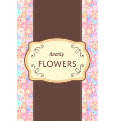 Flower garden card vector