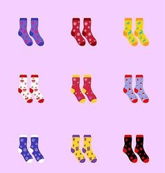 Socks as christmas signs vector