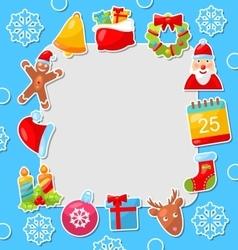 Merry christmas celebration card vector