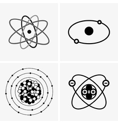 Atom set vector image