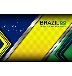 Brazil modern template backgrounds vector