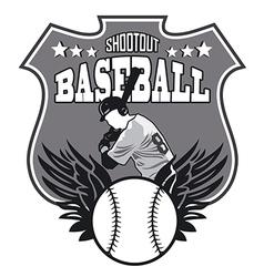 baseball sign vector image vector image