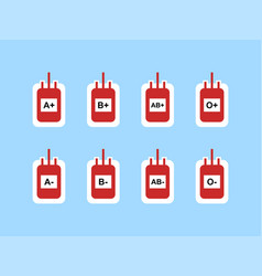 Blood bags sign symbol icon vector