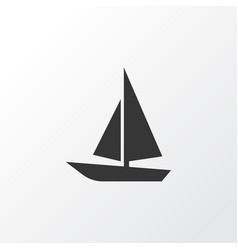 boat icon symbol premium quality isolated ship vector image