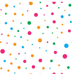 Colorful circle seamless pattern on white vector