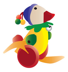colorful retro duck toy vector image