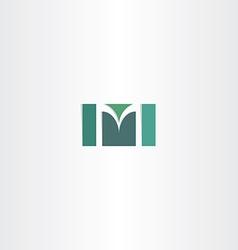 dark green letter m logo symbol vector image vector image