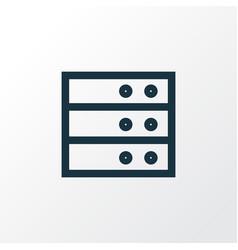 Datacenter outline symbol premium quality vector