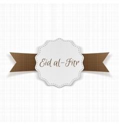 Eid al-fitr decorative festive label vector