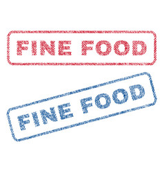 Fine food textile stamps vector