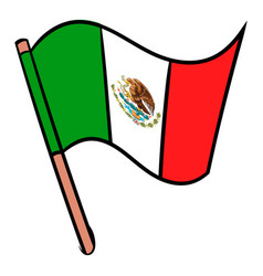flag of mexico icon cartoon vector image