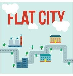 Flat city infographic vector image vector image