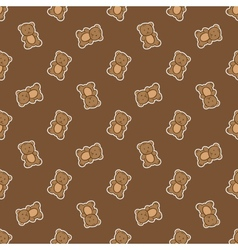 hand drawn doodle bear seamless pattern vector image vector image