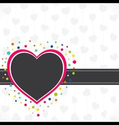 happy valentine day greeting design vector image vector image